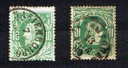 COB 30   2 Exemplaires Cachet Double Cercle, Cachet Simple Cercle MARIEMBOURG - 1869-1883 Leopold II