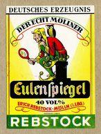 Etiquette Label Alcohol Germany Till Eulenspiegel Tramp Jester Clown Owl Mirror Folklore Rarity - Whisky