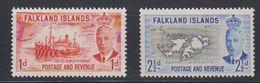 Falkland Islands 1951 Definitives 1d + 2,5d ** Mnh (48704) - Falkland Islands