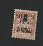 Faux Timbre Zanzibar N° 59 50 C Et 5 Sur 3 A 30 C Sage NSG - Unused Stamps