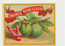 AN 1051 / ETIQUETTE  - PRUNES REINE CLAUDE - Frutta E Verdura