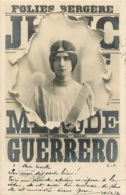 CARTE 1902 FOLIES BERGERE CLEO DE MERODE - Entertainers