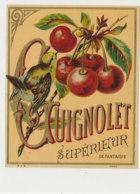 AN 1056 / ETIQUETTE  -  GUIGNOLET   LIQUEUR  SUPERIEUR   DE FANTAISIE - Fruit En Groenten