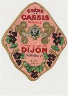 AN 1068 / ETIQUETTE   - CREME DE   CASSIS   DOUBLE BOURCIER  DIJON - Etichette