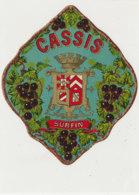AN 1072 / ETIQUETTE   -  CASSIS  SURFIN    N° 901 - Etichette