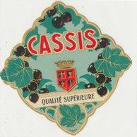AN 1073 / ETIQUETTE   -  CASSIS   QUALITE SUPERIEURE   N° 363 - Etichette