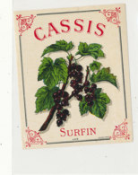 AN 1076 / ETIQUETTE   -  CASSIS   SURFIN   N° 472 - Unclassified