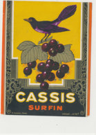 AN 1078 / ETIQUETTE   -  CASSIS  SURFIN  N° 72 - Etichette