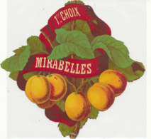 AN 1082 / ETIQUETTE   -   MIRABELLES 1er CHOIX - Fruits & Vegetables