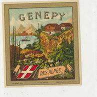 AN 1089 / ETIQUETTE   -  GENEPY  DES ALPES    N° 176 - Labels