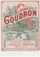 AN 1093 / ETIQUETTE   -  GOUDRON DE NORVEGE  CHARLES MEYER  SETIF  ALGERIE - Labels