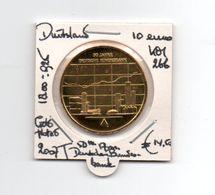 DUITSLAND 10 EURO 2007 J ZILVER GOLD PLATED 50 Th ANN. DEUTSCHEN BUNDESBANK - Allemagne