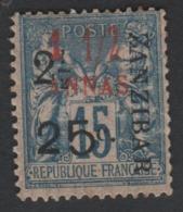 Faux Timbre Zanzibar N° 34l (TYPE XII) 2 1/2 Et 25 C Sur 1/2 15 C Gomme Charnière - Unused Stamps