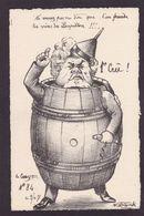 CPA FALLIERES Satirique Caricature Fallières Par MOLYNK Estampe Tirage Limité Non Circulé Tire Bouchon - Sátiras