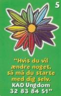 Denmark, P 331, KAD Ungdom, Mint , Only 1200 Issued, Flower. - Danemark
