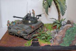 VIETNAM WAR M42 DUSTER TAMIYA VERLINDEN 1/35 DIORAMA - Tanques