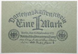 Allemagne - 1 Mark - 1922 - PICK 61a - NEUF - [ 3] 1918-1933 : República De Weimar