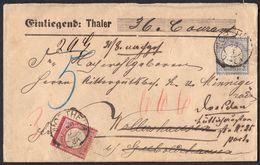 BRUSTSCHILD Nr.19 U. 20 Wertbrief Mit Hannover-K2 NORTHEIM Mit Nachsendung Geprüft Krug BPP (bb20) - Briefe U. Dokumente