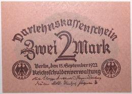 Allemagne - 2 Mark - 1922 - PICK 62 - NEUF - 2 Mark
