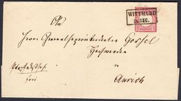 BRUSTSCHILD Nr.19 Brief Sauberer Hannover-Ra2 WITTMUND Nach Aurich Geprüft Brugger BPP (bb20) - Brieven En Documenten