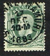 30 Oblitération Simple Cercle SALZINNE (NAMUR) 17 DEC 1883 - 1869-1883 Leopold II