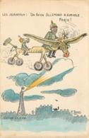 UN AVION ALLEMAND SURVOLE PARIS  LES JOURNAUX ILLUSTRATEUR  ROBERT EDITION  LION  CASQUE A POINTE - Weltkrieg 1914-18