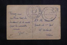 FRANCE - Cachet FFI Du Bataillon Maury Sur Carte Postale En FM En 1944 -  L 64510 - Marcophilie (Lettres)