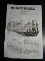 1847  VEDUTA DI BARZANO' NELLA BRIANZA  XILOGRAFIA ORIGINALE TRATTA DA COSMORAMA PITTORICO - Vieux Papiers