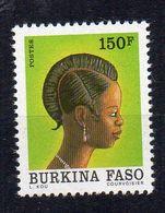 BURKINA FASO - 1991 - FEMME DU BURKINA FASO - COIFFURE - WOMAN FROM BURKINA FASO - 150f - - Burkina Faso (1984-...)