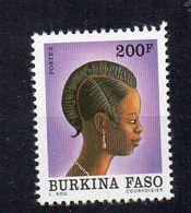 BURKINA FASO - 1991 - FEMME DU BURKINA FASO - COIFFURE - WOMAN FROM BURKINA FASO - 200f - - Burkina Faso (1984-...)