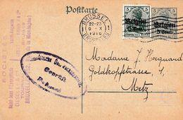 Briefkaart Nr 9  / Brussel => Metz / Censuur - Stamped Stationery