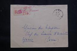 FRANCE - Enveloppe En Recommandé Du Chef De L'Etat Français De Vichy Pour Ajaccio En 1942 -  L 64512 - Marcophilie (Lettres)