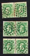 COB 30 : 3 Paires Oblit LP 77 - 1869-1883 Leopold II