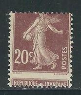 FRANCE  N° 139  **   Superbe Piquage à Cheval - 1906-38 Semeuse Camée
