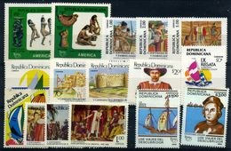 República Dominicana Nº 1010/3, 1042/5, 1069/2, 1083A/8, 1088A/B. Año 1986/91 - Dominicaine (République)