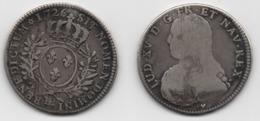 + FRANCE   + 1/2 ECU 1726 BB+  RARE EXEMPLAIRE  + - 1715-1774 Louis XV Le Bien-Aimé