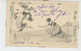 FEMMES - FRAU - LADY - Jolie Carte Fantaisie Viennoise ART NOUVEAU Femme Et Oiseau - M.M. VIENNE N°75 - Femmes