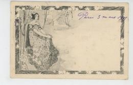 FEMMES - FRAU - LADY - Jolie Carte Fantaisie Viennoise ART NOUVEAU Femme Dans Sous Bois - M.M. VIENNE N°75 - Femmes