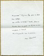 Pierre Blanchar (1892-1963) - Acteur Et Metteur En Scène - Pensée Autographe Signée - Coll. André Jouniaux - Autografi