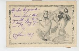 FEMMES - FRAU - LADY - Jolie Carte Fantaisie Viennoise ART NOUVEAU Femmes Avec Guirlande De Fleurs - M.M. VIENNE N°75 - Femmes