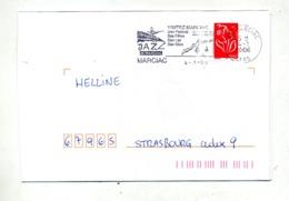 Lettre Flamme Marciac Festival Jazz Lac - Marcophilie (Lettres)