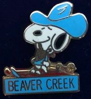 SNOOPY EN COW-BOY SUR DES SKIS - CHAPEAU BLEU - BEAVER CREEK - CHIEN - DOG - CANE - HUND - PERRO  -            (26) - Berühmte Personen