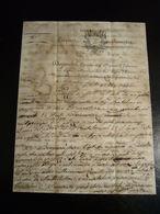 EMPIRE FRANCAIS 1816 LETTERA MANOSCRITTA SPEDITA DA SPOLETO - Manuscripts