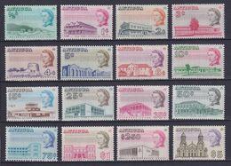 ANTIGUA 1966, SG# 180a-195a, Architecture, MNH/MH - 1960-1981 Autonomia Interna