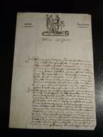 """ORIGINALE LETTERA MANOSCRITTA INTESTATA  """"LIBERTA EGUAGLIANZA""""  CON BELLA INCISIONE - Manuscripts"""
