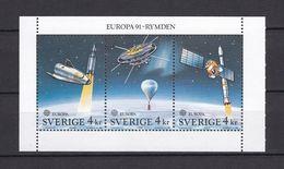 Europa-CEPT - Schweden - 1991 - Michel Nr. 1663/1665 - H-Blatt 186 - Postfrisch - Europa-CEPT