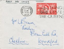36965. Carta BROMLEY And BECKENHAM (Kent) England 1953. Slogan Long Live The Queen - Covers & Documents