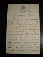 ORIGINALE LETTERA MANOSCRITTA INTESTATA  CAMERA DEI DEPUTATI GIUNTA GENERALE DEL BILANCIO  REGNO D'ITALIA 1893 - Manuscripts