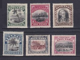 AITUTAKI 1920, SG# 24-29, CV £27, Trees, Ships, MH - Aitutaki