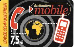 CARTE-PREPAYEE-7,5€-TISCALI-LEADER COMMUNICATIONS-Dest MOBILE-Exp 31/12/2004- TBE-LUXE RARE - France
